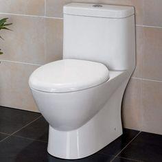 Serena One-Piece Dual Flush Toilet w/ Soft Close Seat