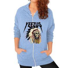 Yeezus kanye west band Zip Hoodie (on woman) Shirt