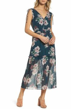 NSR Floral Midi Dress