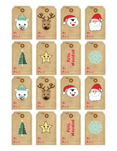 etiquetas de navidad para regalos - Buscar con Google