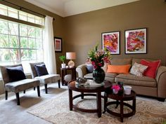 warm earth tone colors for living room