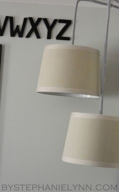 Simple DIY Plug in Drum Pendant Lighting {How to turn a Lamp Shade into a Hanging Pendant Light – the easy way} - bystephanielynn
