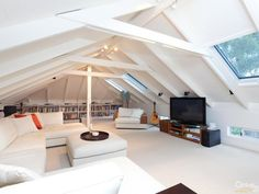 Awesome living space in the attic!
