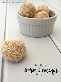 Lemon and Coconut Balls - Create Bake Make