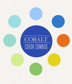 Cobalt Color Board | Rosy Glasses