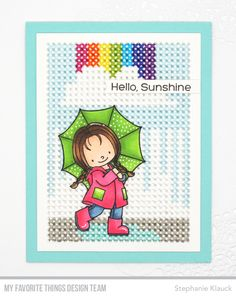 Stamps: Rain or Shine Die-namics: Cross-Stitch Rectangle, Hearts in a Row - Horizontal Stephanie Klauck #mftstamps