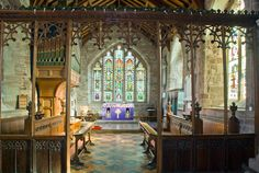 Eaton Bishop church chancel screen, Herefordshire