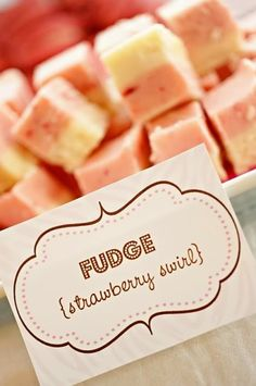 Zebra Christening Party :: Fudge from Dylan's Candy Bar & Custom Signs designed by Posh Pixels Design Studio LLC