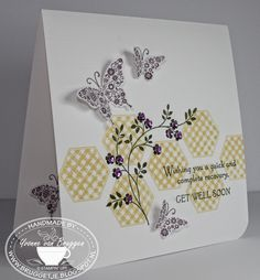 Yvonne's Stampin' & Scrap Blog: Stampin' Up! Six sided and Butterflies card
