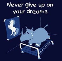 Quote with picture about Never give up on your dreams on SayingImages.com