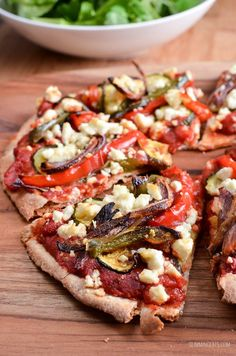 Want to know the best way to get some Speed Foods into your meal? With this amazing Roasted Vegetable Feta Pizza, of course!!