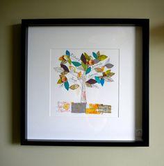 Family Tree mixed media original art by AmandaWoodDesigns on Etsy, £35.00