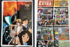 Dark Horse Extra #1 July 1998 with Star Wars Manga Poster Madman Mike Allred