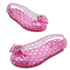 Disney Light-Up Minnie Mouse Shoes for Girls   Disney StoreLight-Up Minnie Mouse Shoes for Girls - Just like Minnie herself, your little one will brighten everyone up wherever she goes in her Light-Up Jelly Minnie Mouse Shoes. The glitter-injected uppers feature heart cut-outs and a pink satin polka dot bow topped with a large heart-shaped jewel.