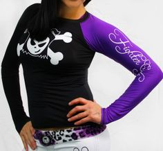 Women's cute Long sleeve Rash guard  MMA rashguard  grappling rashguard 