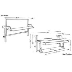 Hafele hiddenbed hardware mechanism for foldaway bed for Study bed plans