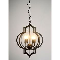 This 17-inch chandelier is exceptionally beautiful for your home. It has curvy structure and a fabulous chain for hanging. This light fixture hangs about 40 inches from the ceiling.