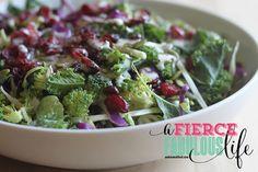 Kale Broccoli Cabbage Salad with Creamy Lemon Poppyseed Dressing - Photo 1