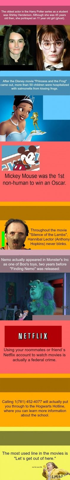 LMAO!!! Some useless movie facts