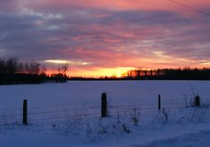 Sunset on Pihulak Road Fort Frances Ontario Canada.