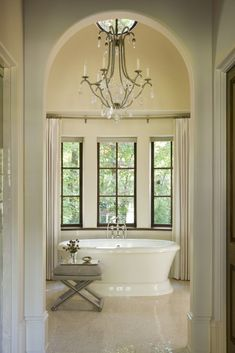 English Country - Harrison Design Serene Bathroom, Beautiful Bathrooms, Master Bathroom, Harrison Design, Traditional Style Homes, Spa, Atlanta Homes, Building A New Home, French Country Decorating