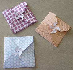 Des petites enveloppes en origami