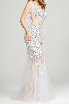 Jovani 24200 Потрясающее выпускное платье с цветочной аппликацией