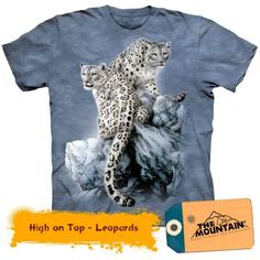 The Mountain Graphic Tee Regular T-Shirts for Men White Leopard, Snow Leopard, Graphic Tees, Classic T Shirts, T Shirts For Women, Mens Tops, Shopping, Mountain High, Unisex