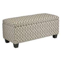 Cortesi Home Kiki Upholstered Storage Ottoman