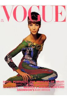 Christy Turlington  in Versace Couture for British Vogue 90'