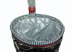 Tutorial is written very well. I want one now! Must make!!! - - - Car trash bag tutorial -- Simple to use and fun to give as gifts! This is how it looks with a plastic bag inside for your trash. Now your car with be clean! No more car trash! I use doggie poop bags, veggie grocery store bags inside my trash can. Any skinny bag, recycled will do! Enjoy! -- A Ditchin' Time Quilts: Tutorial for my car trash bags