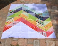 sunlight in winter quilts: giant chevron