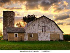 Old Barn At Sunset Stock Photo 35938291 : Shutterstock