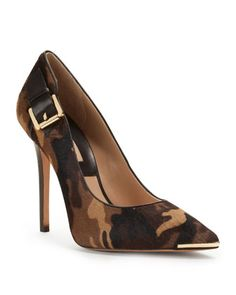 Michael Kors Audrey Buckle Pump. This heel with Jbrand skinny cargos and a plain tank. Bomb.