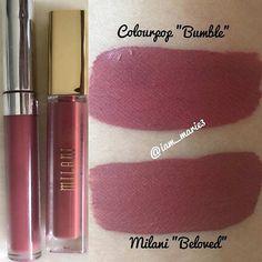 "Milani ""Beloved"" Dupe Drugstore Makeup Dupes, Beauty Dupes, Beauty Makeup, Elf Dupes, Lipstick Swatches, Makeup Swatches, Lipsticks, Matte Lipstick, Milani Lipstick"