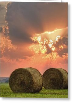 Morning In The Heartland Greeting Card by Ron McGinnis