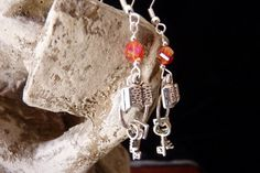 Keys to Knowledge Earrings with Book Charms