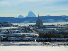 Rexburg, Idaho.  It almost looked like this all year round.  Snow haha