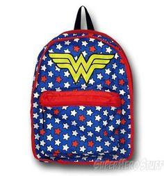 Wonder Woman Reversible Comic/Symbol Backpack