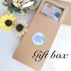 Tanacrafts- gift box !! For pressed flowers phone cases Samsung Iphone gift idea…