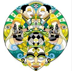 Fernando Chamarelli x NIKE - Confederations Cup, Brazil T shirt design. #illustration #design #graphic #mural