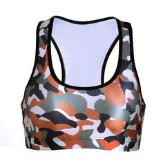 2017newYoga vest European and American camouflage digital printing without ring speed dry stretch yoga sports bra vest #Affiliate