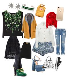 """ținuta clasic și sexy☺☺☺☺"" by izabela-bunica on Polyvore featuring Miu Miu, Maje, WithChic, Bee Goddess, M&Co, 3x1, Dsquared2, Gucci, Ashish and Maison Margiela"