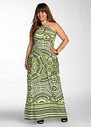 Global Print Maxi Dress. Sizes 12-26W.