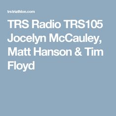 Listen to the greatest triathlon podcast in the world. TRS Radio is rich in opinion, comedy and interviews with world-famous guests. Tim Floyd, Triathlon, Interview, Triathalon