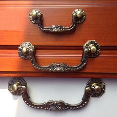 Shabby Chic Dresser Pulls Handles Drawer Drop Antique Bronze Kitchen Cabinet Handle Pull