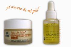 NOSINMYMAKEUP: Al rescate de mi piel: Nuxe Réve de miel y Aceite de Argán Acure