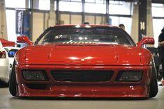 Stanced Ferrari 348 from Wekfest