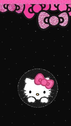 New wallpaper phone dark hello kitty ideas Hello Kitty Bed, Hello Kitty Rooms, Hello Kitty Themes, Hello Kitty Pictures, Sanrio Hello Kitty, Hello Kitty Backgrounds, Hello Kitty Wallpaper, Wallpaper Iphone Cute, New Wallpaper