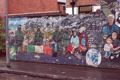 Residential areas can often be identified as predominantly Nationalist or Unionist by their political murals.